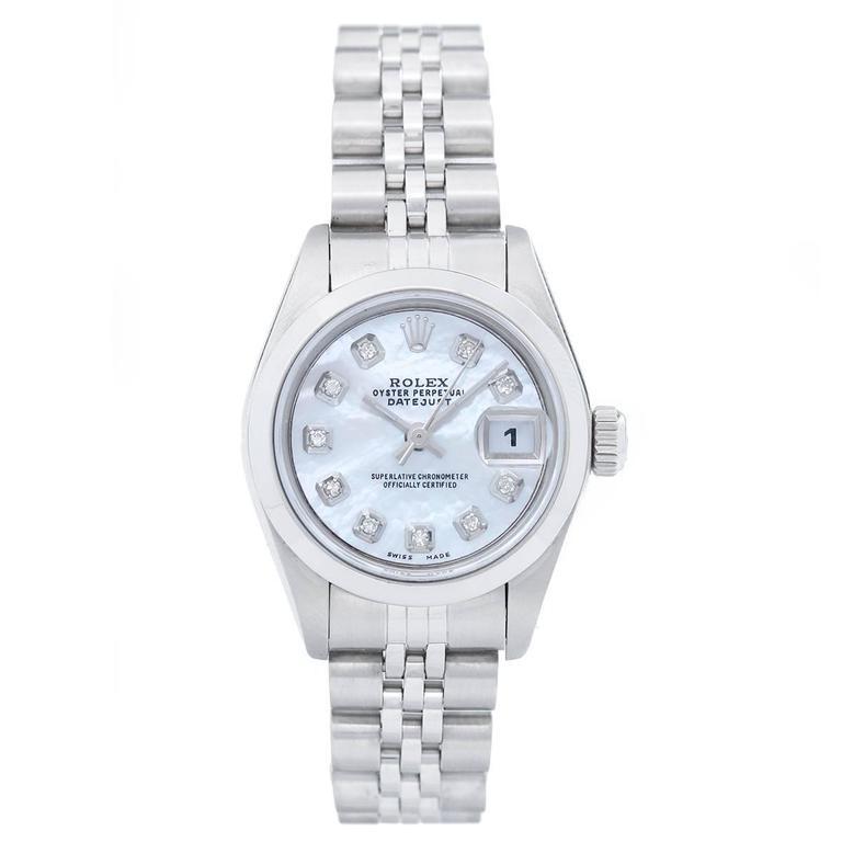 Rolex Ladies Stainless Steel Datejust Automatic Wristwatch Ref 69160