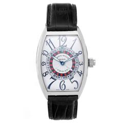 Franck Muller White Gold Vegas Roulette Wheel Automatic Wristwatch Ref 5850