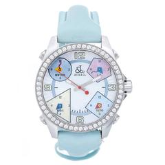 Jacob & Co. Stainless Steel Five Time Zone Quartz Wristwatch