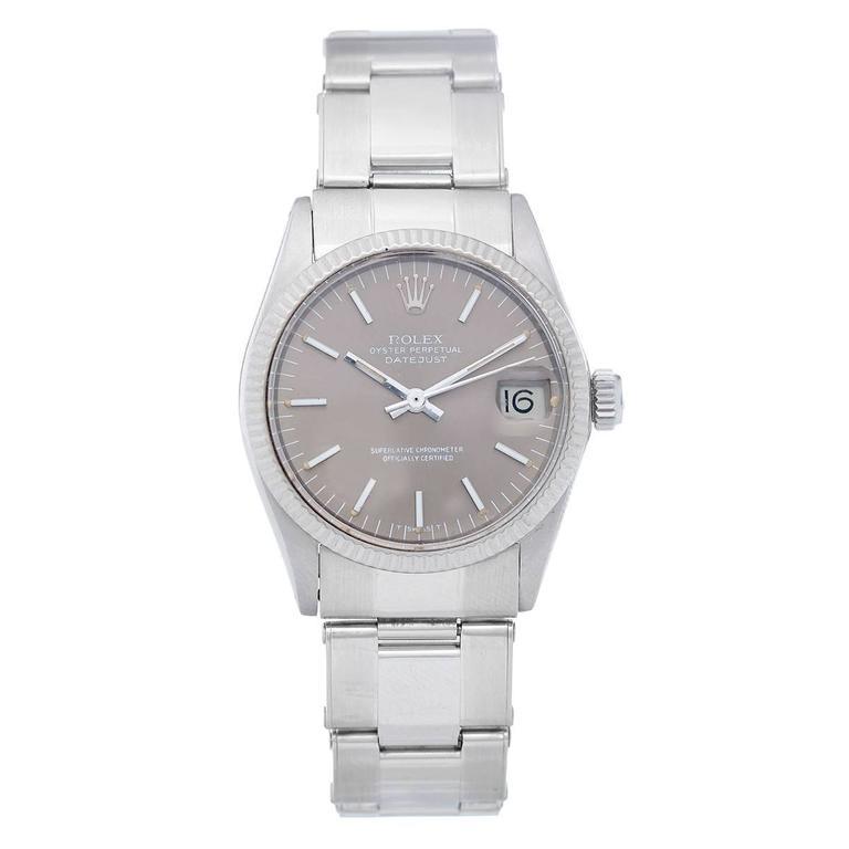 Rolex Stainless Steel Datejust Midsize Automatic Wristwatch