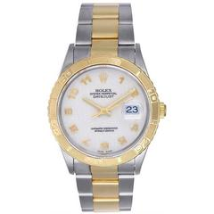 Rolex Stainless Steel Yellow Gold Turnograph Automatic Wristwatch Ref 16263