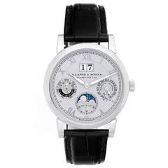 A. Lange & Sohne Platinum Langematik Perpetual Automatic Wristwatch Ref 310.025