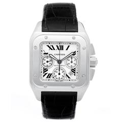 Cartier Santos 100 Chronograph Automatic Wristwatch Model 2740