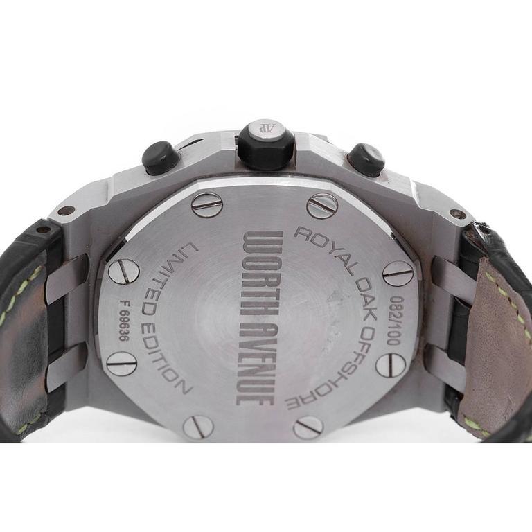 Audemars Piguet Stainless Steel Royal Oak Offshore Worth Avenue Wristwatch 4