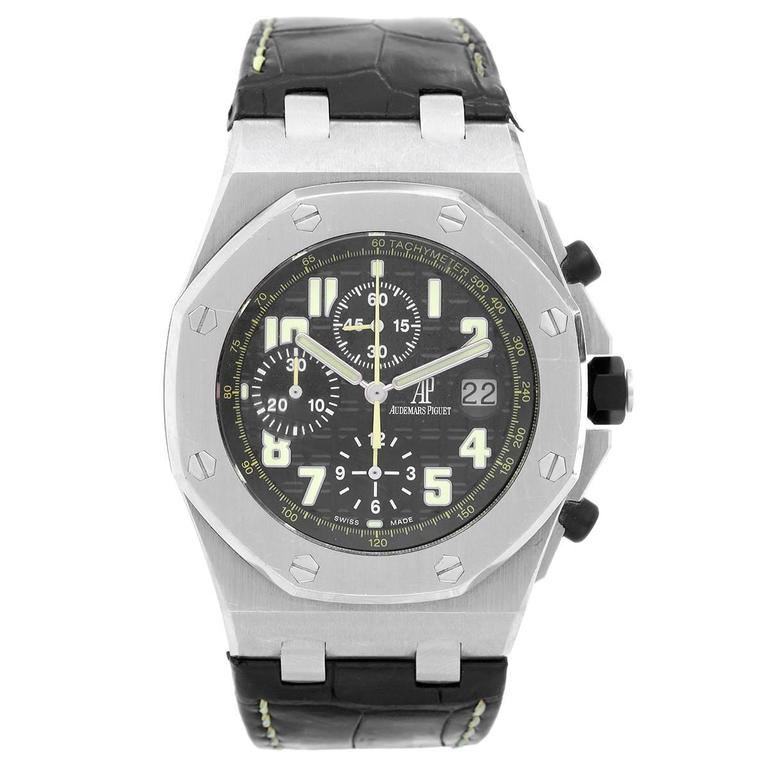 Audemars Piguet Stainless Steel Royal Oak Offshore Worth Avenue Wristwatch For Sale
