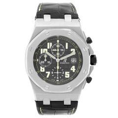 Audemars Piguet Stainless Steel Royal Oak Offshore Worth Avenue Wristwatch