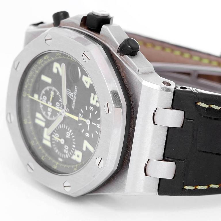 Audemars Piguet Stainless Steel Royal Oak Offshore Worth Avenue Wristwatch In Excellent Condition For Sale In Dallas, TX