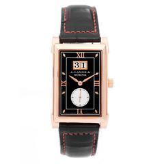 A. Lange & Sohne Rose Gold Cabaret Big Date Mechanical Wristwatch Model 107.031