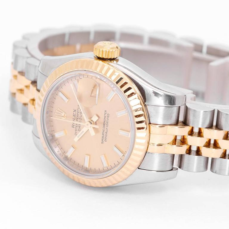 Rolex Ladies yellow gold Stainless steel Datejust Automatic Wristwatch   In Excellent Condition For Sale In Dallas, TX