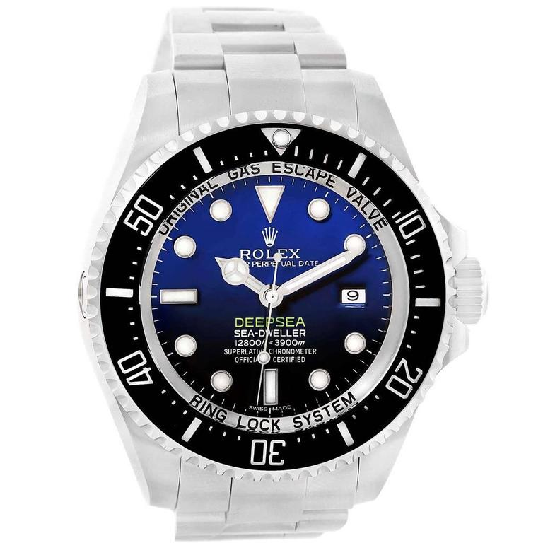 Rolex Stainless Steel Sea Dweller-Deepsea Blue Wristwatch Ref 116660  For Sale
