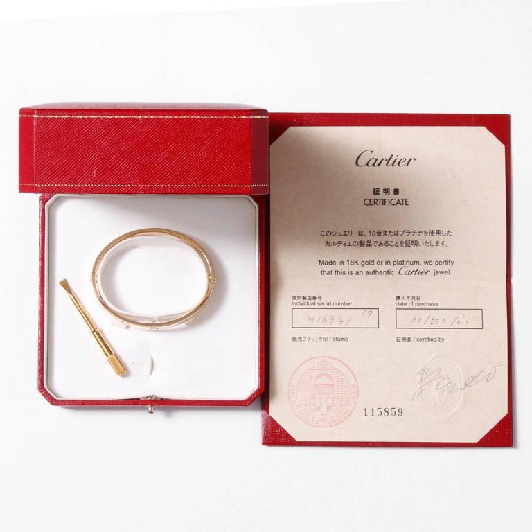 Cartier Yellow Gold Love Bracelet  3