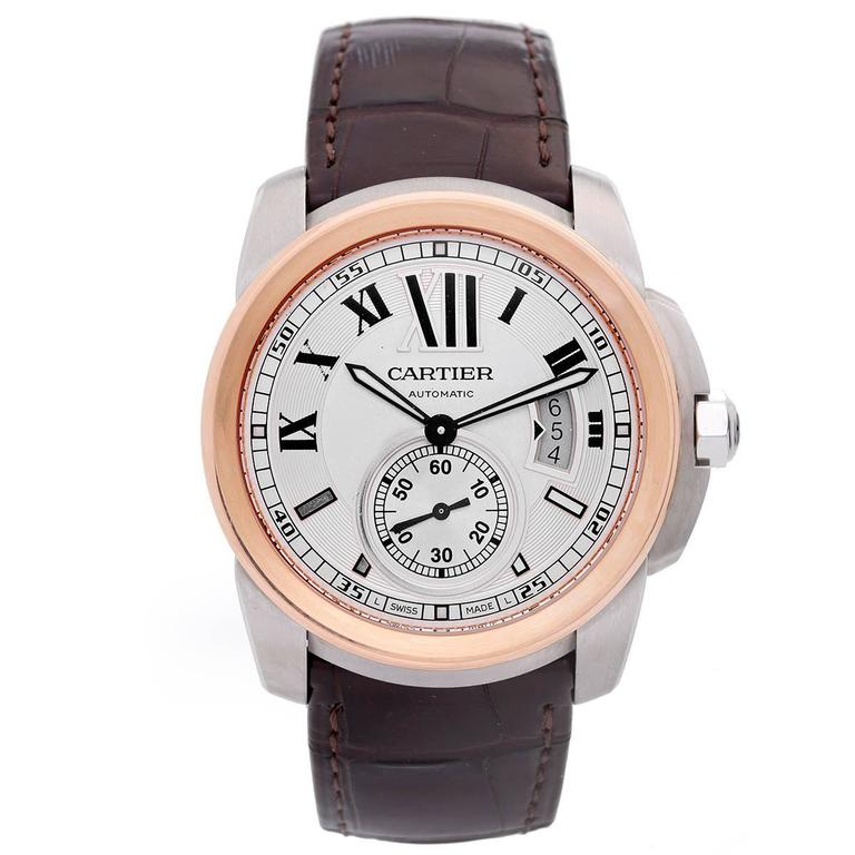 Cartier Calibre de Cartier Rose Gold Stainless Steel Automatic Wristwatch 1