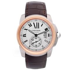 Cartier Calibre de Cartier Rose Gold Stainless Steel Automatic Wristwatch