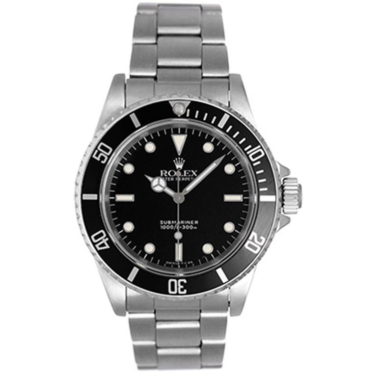 Rolex Stainless Steel Submariner Automatic Wristwatch Ref 4060 For Sale