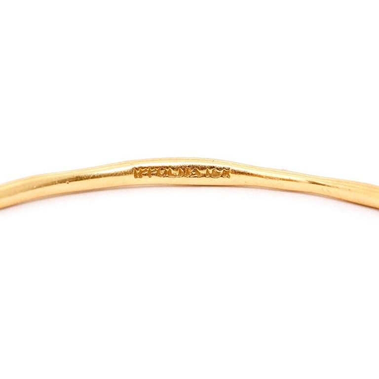 IPPOLITA 18K Yellow Gold Bangle Size 7 1/4 - . Pre-owned. Inner diamenter 18.4cm. Size 7 1/4. Hallmarks IPPOLITA, 18K. Total weight 7.8 grams.