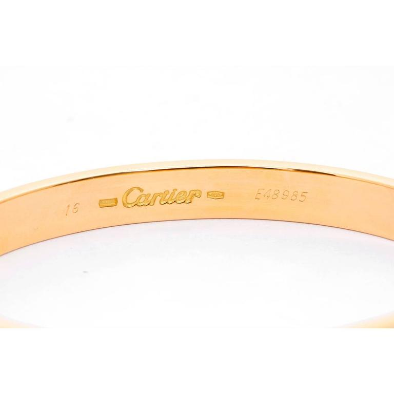 Cartier Love Bracelet Yellow Gold with Screwdriver In Excellent Condition For Sale In Dallas, TX