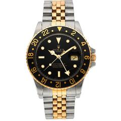 Rolex Stainless steel Yellow gold bezel GMT-Master Automatic Wristwatch
