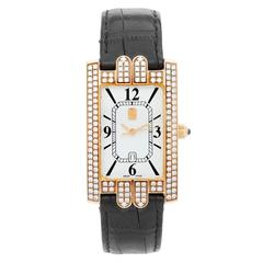 Harry Winston Yellow Gold Avenue Classic Wristwatch