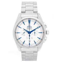 Omega Stainless Steel Seamaster Aqua Terra XL Chronograph Automatic Wristwatch