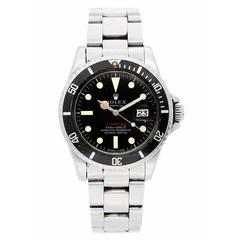 Rolex Stainless Steel Red Submariner 1680 Oyster Bracelet Automatic Wristwatch