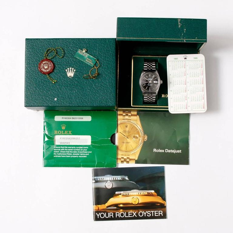 Men's Rolex Stainless Steel Rare Datejust Automatic Wristwatch