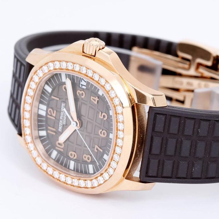 Patek Philippe Ladies Rose Gold Aquanaut Automatic Wristwatch Ref