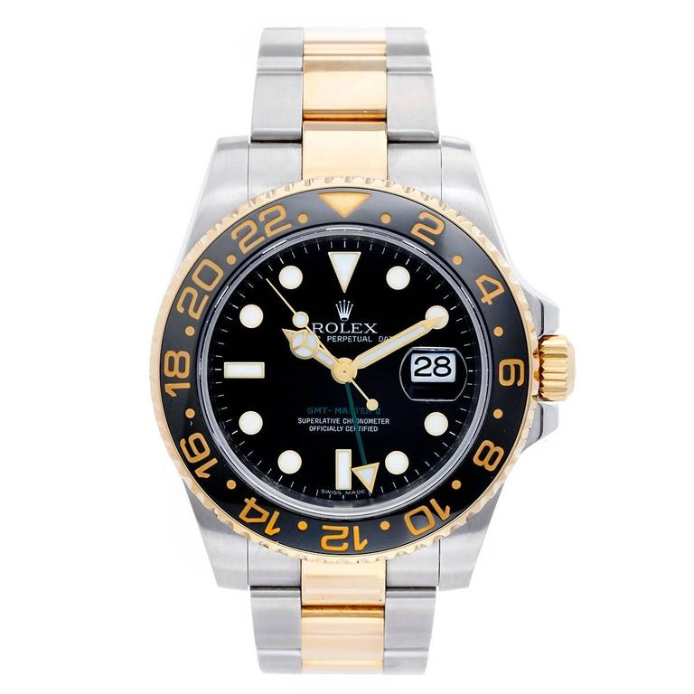 Rolex yellow gold stainless steel GMT-Master II Automatic wristwatch
