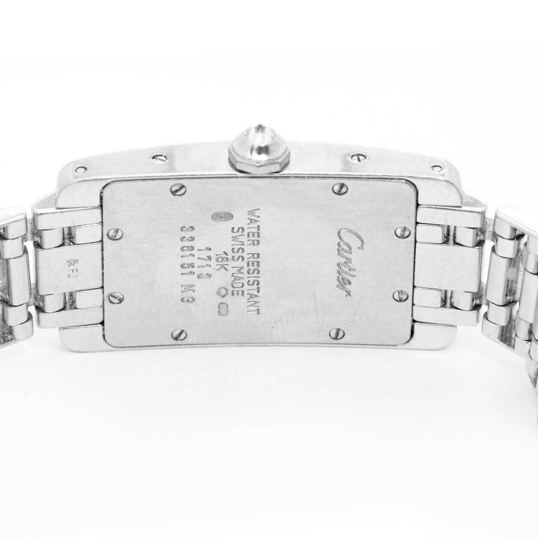 Cartier Ladies White Gold Diamond Tank Americaine Quartz Wristwatch Ref WB7018L1 4