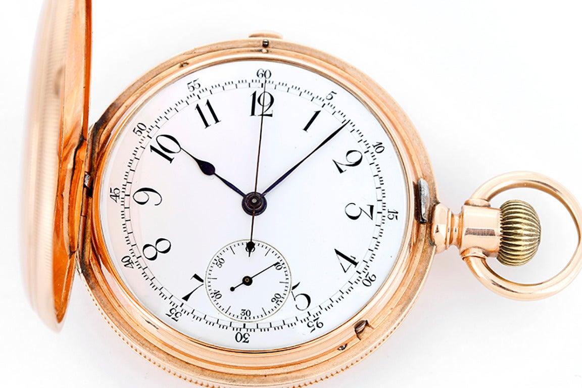swiss made gold chronograph pocket