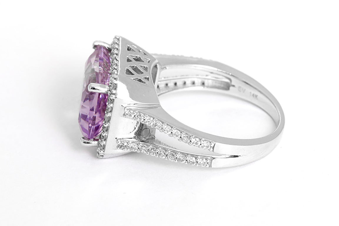 stunning amethyst white gold cocktail ring at 1stdibs