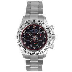 Rolex White Gold Daytona Cosmograph Wristwatch Ref 116509