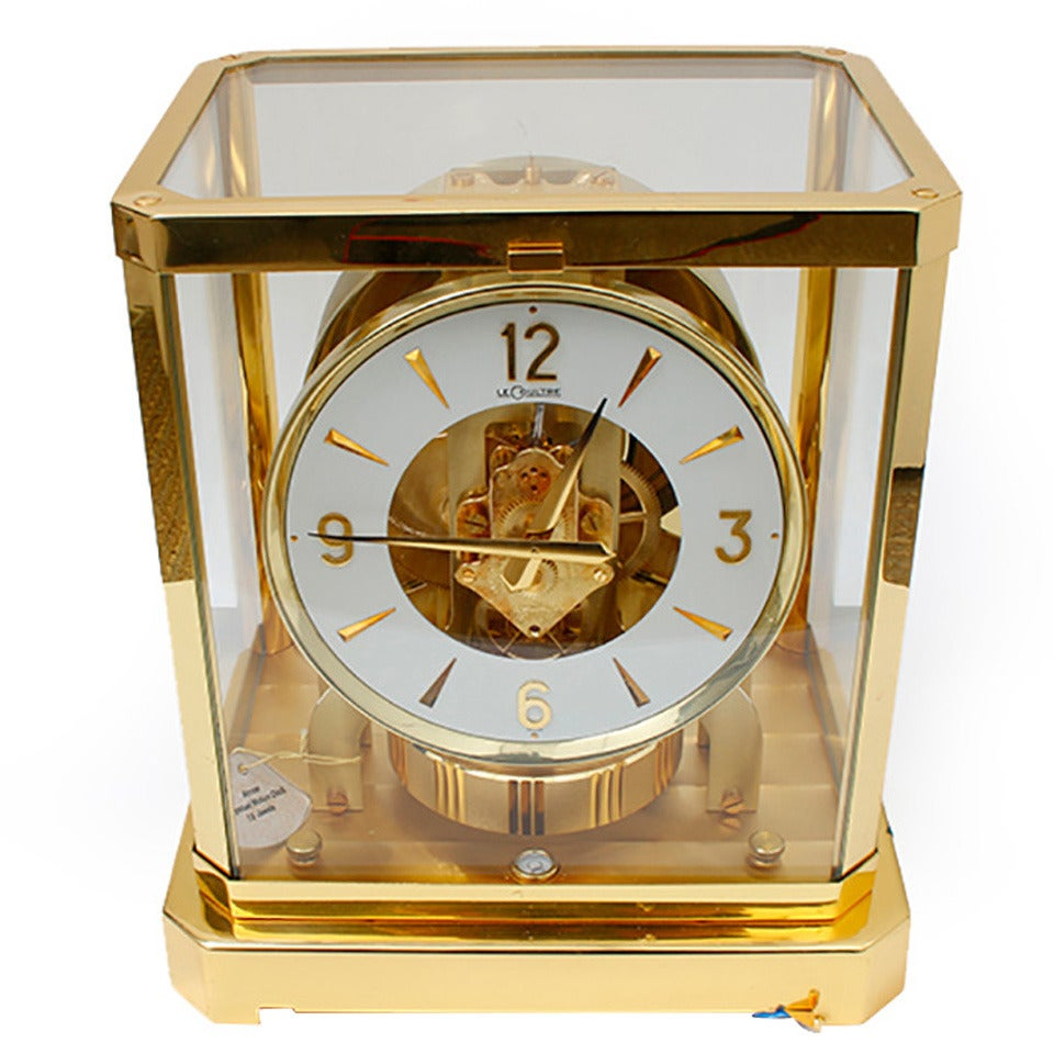 classique clock watches gold desk brass products atmos coated gilt white yellow dial