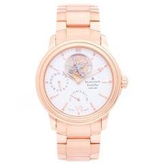Blancpain Rose Gold Leman Tourbillon Power Reserve 2125 Automatic Wristwatch