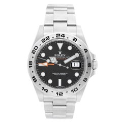 Rolex Stainless Steel Explorer II Oyster Bracelet Automatic Wristwatch
