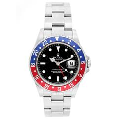 Rolex Stainless Steel GMT-Master II Black Dial Automatic Wristwatch Ref 16710