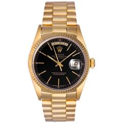 Rolex yellow gold President Black dial ref 1803 automatic wristwatch
