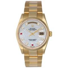 Rolex Yellow Gold Diamond President Day-Date Automatic Wristwatch Ref 118208