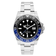 Rolex Stainless Steel GMT-Master II Blue Black Sport Automatic Wristwatch
