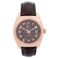 Rolex Rose Gold Sky-Dweller Annual Calendar GMT Automatic Wristwatch Ref 326135