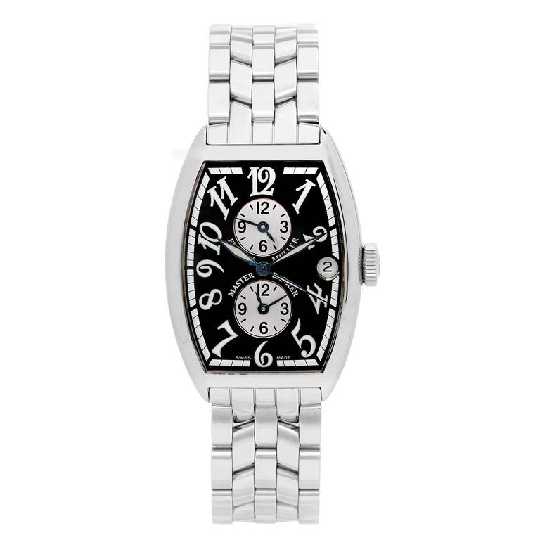 Franck Muller Stainless Steel Master Banker Tonneau Automatic Wristwatch