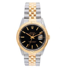 Rolex Yellow Gold Stainless Steel Turnograph Automatic Wristwatch Ref 16263