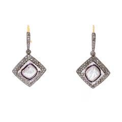 Bohemian Rose Cut Dangle Earrings