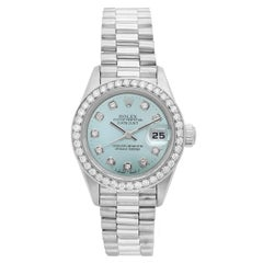 Rolex Ladies Platinum President Automatic Wristwatch Ref 79166