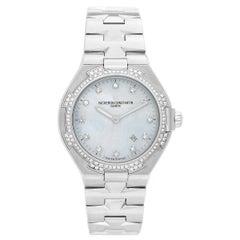 Vacheron Constantin Ladies Stainless Steel Overseas Quartz Wristwatch Ref 25750