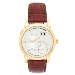 A. Lange & Sohne Yellow Gold Grande Lange 1 Power Reserve Big Date Wristwatch
