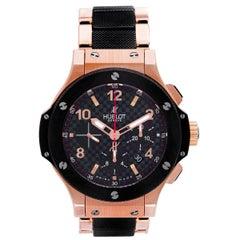Hublot Rose Gold Big Bang Chronograph Automatic Wristwatch