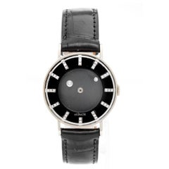 Jaeger Lecoultre White Gold Rare Mystery Galaxy Manual Wristwatch