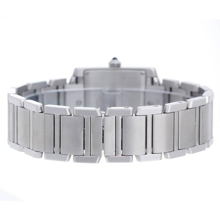 Cartier Stainless Steel Tank Francaise Midsize Quartz Wristwatch 2