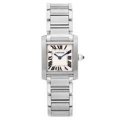 Cartier Ladies Stainless Steel Tank Francaise Quartz Wristwatch Ref W51008Q3