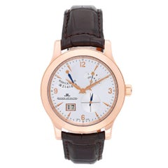 Jaeger LeCoultre Rose Gold Master Eight Days Automatic Wristwatch